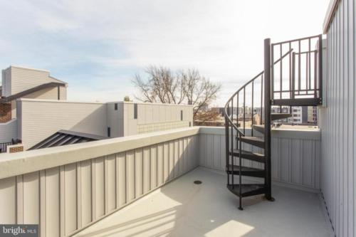 Stairwell to roof-top patio
