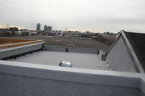 Roof-top patio view of center city