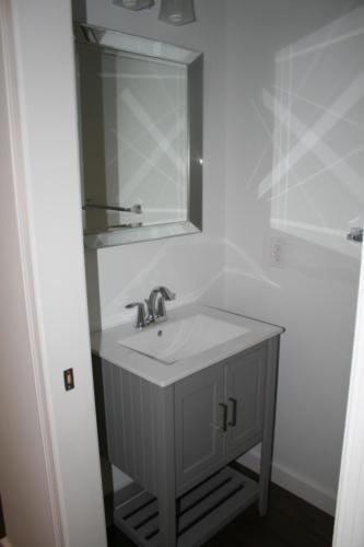 Vanity sink in half bathroom